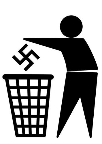 Anti-Nazi Logo T-shirt anti-fasciste anti-raciste des droits de l/'homme l/'égalité militant