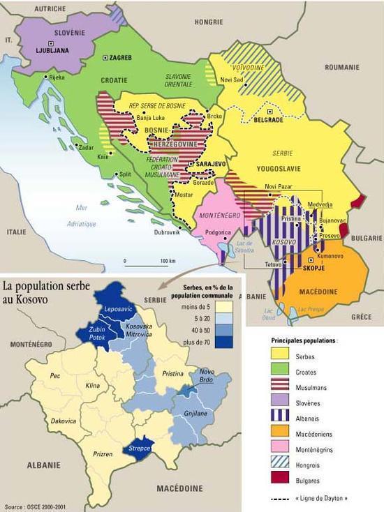 Carte Deurope Yougoslavie.Serbie 1999 De La Dislocation De La Yougoslavie Au Projet