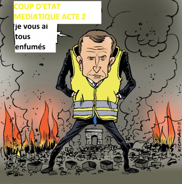 """Résultat de recherche d'images pour """"Macron gilets jaunes caricature"""""""